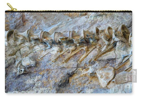 Fossilized Dinosaur Backbone - Dinosaur National National Monument Carry-all Pouch
