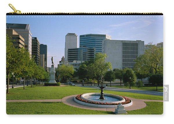 Fountain In A Park, Austin, Texas, Usa Carry-all Pouch