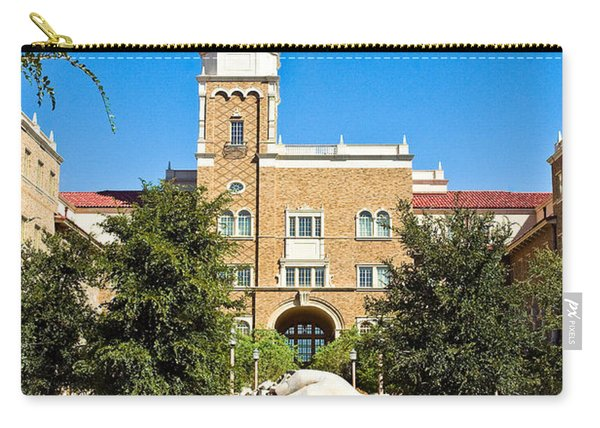 Carry-all Pouch featuring the photograph Fountain Of Knowledge by Mae Wertz