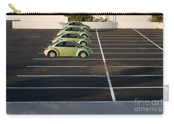 Four Green Beetles Carry-all Pouch