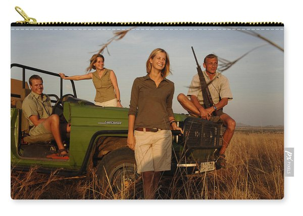 Four People Smiling On Safari Carry-all Pouch