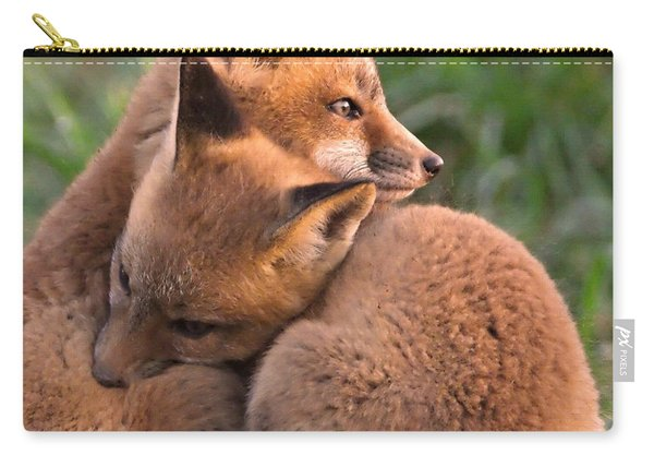 Fox Cubs Cuddle Carry-all Pouch