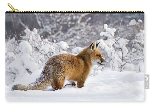 Fox In The Snow Carry-all Pouch