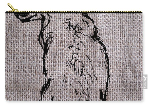 Fox On Burlap  Carry-all Pouch