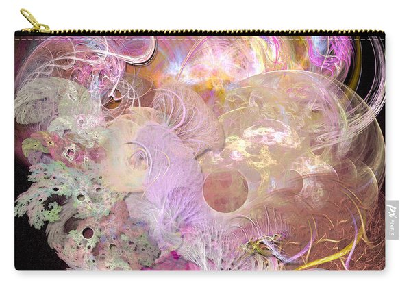 Fractal Feathers Pink Carry-all Pouch
