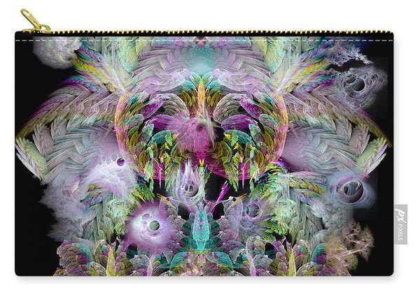 Fractal Grasses Carry-all Pouch