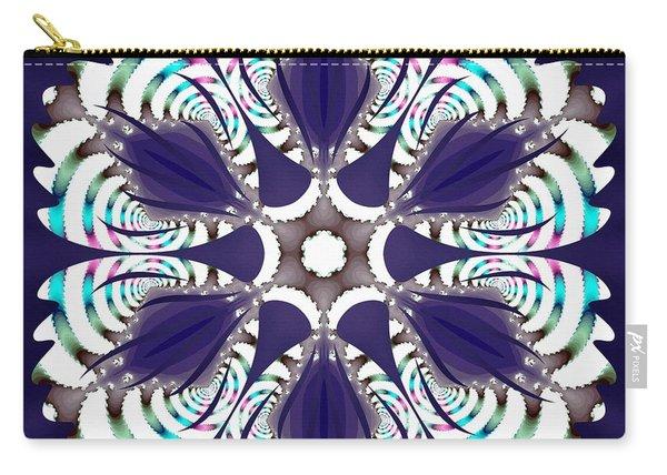 Carry-all Pouch featuring the digital art Fractal Snowcaps by Derek Gedney