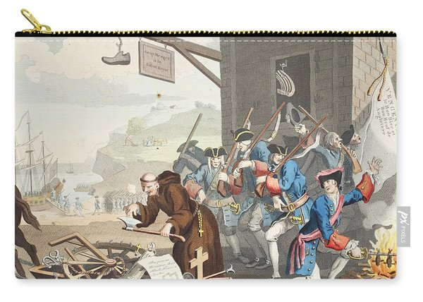 France, Illustration From Hogarth Carry-all Pouch