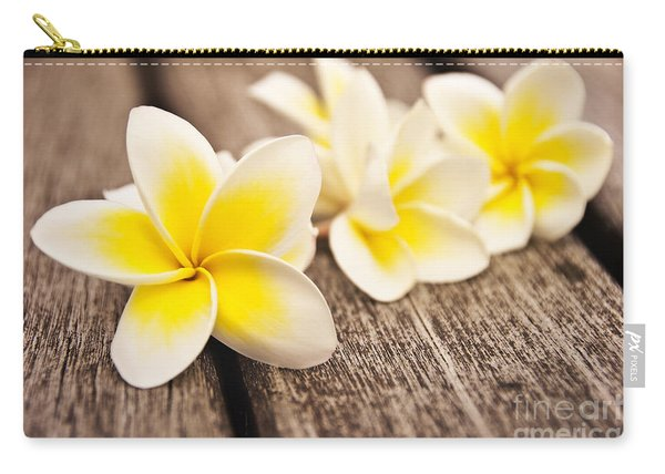 Frangipani Flower Carry-all Pouch