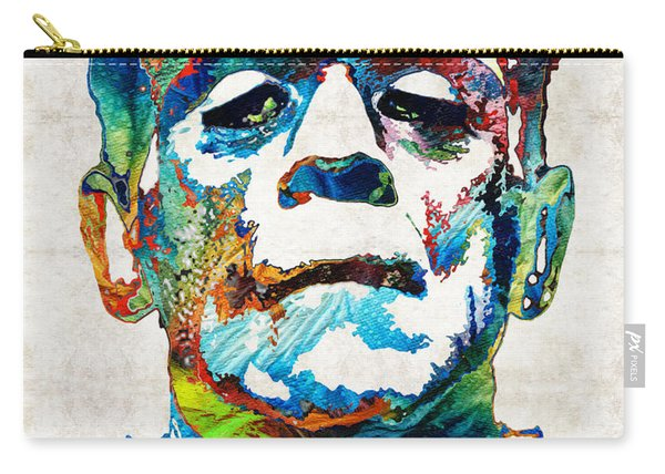 Frankenstein Art - Colorful Monster - By Sharon Cummings Carry-all Pouch
