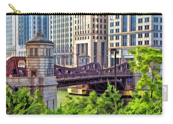 Chicago Franklin Street Bridge Carry-all Pouch
