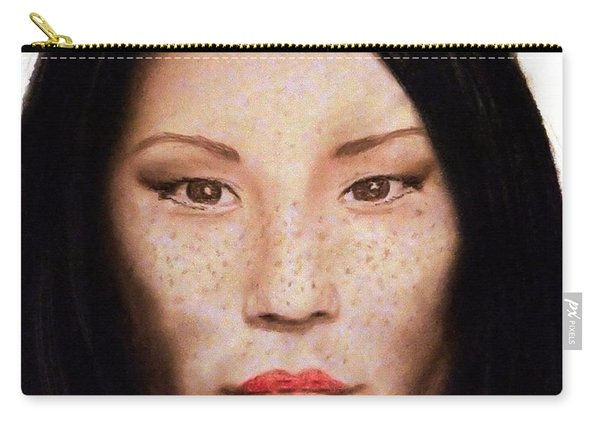 Freckle Faced Beauty Lucy Liu  IIi Carry-all Pouch