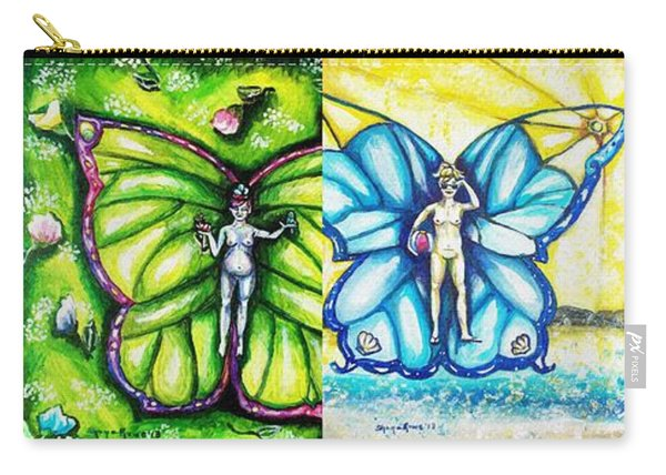 Free As The Seasons Series Collage Carry-all Pouch