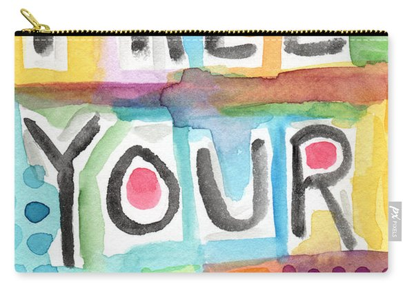 Free Your Mind- Colorful Word Painting Carry-all Pouch