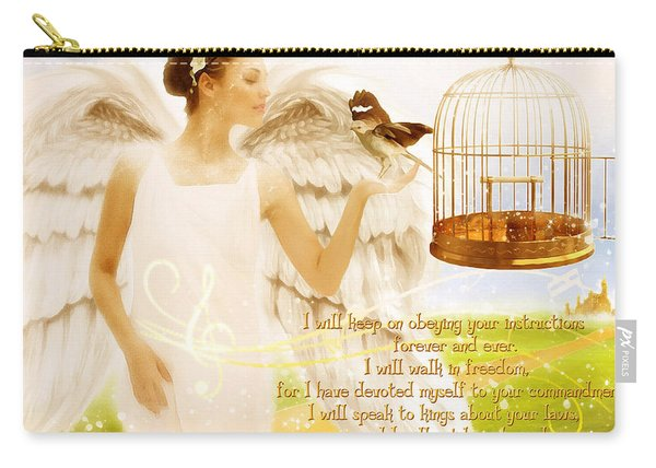 Freedom Song With Scripture Carry-all Pouch