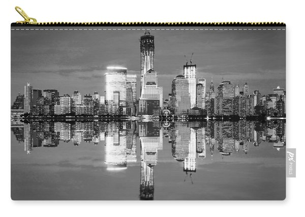 Freedom Tower Black And White Carry-all Pouch