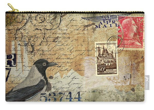 French Bird Postcard Carry-all Pouch