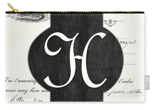 French Champagne Monogram Carry-all Pouch