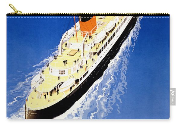 French Line Vintage Travel Poster Carry-all Pouch