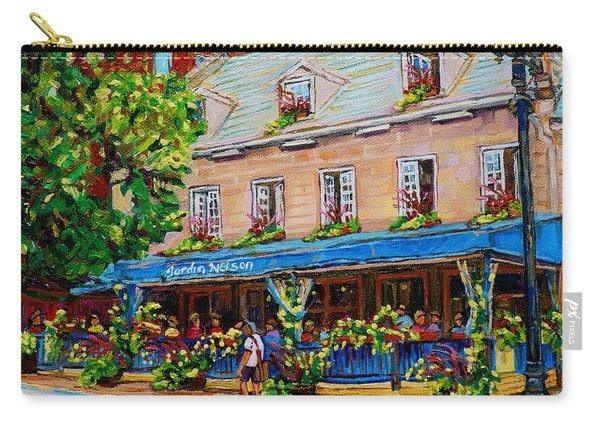 French Restaurant Jardin Nelson Paris Style Bistro Place Jacques Cartier Terrace Garden C Spandau   Carry-all Pouch