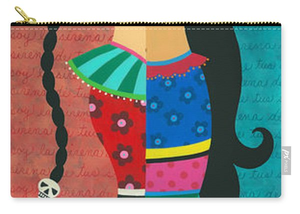 Frida Kahlo Mermaid Angel With Flaming Heart Carry-all Pouch