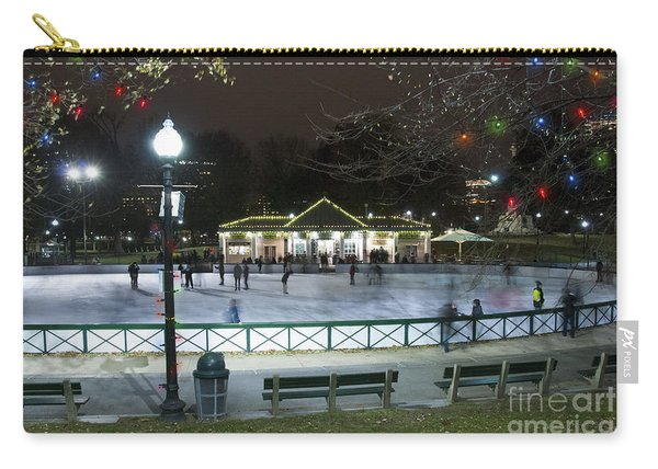 Frog Pond Ice Skating Rink In Boston Commons Carry-all Pouch