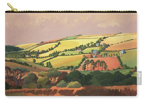 From The Train, South Devon, No.1 Oil On Canvas Carry-all Pouch