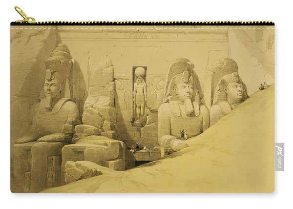 Front Elevation Of The Great Temple Of Aboo Simbel Carry-all Pouch