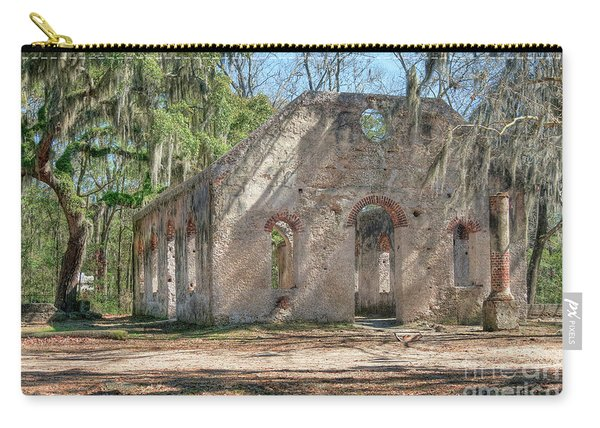 Front View Of The Chapel Of Ease Carry-all Pouch