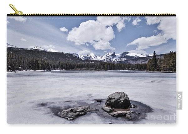Carry-all Pouch featuring the photograph Frozen Lake by Mae Wertz