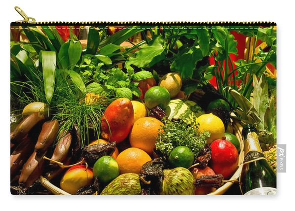 Carry-all Pouch featuring the photograph Fruit And Wine by Mae Wertz
