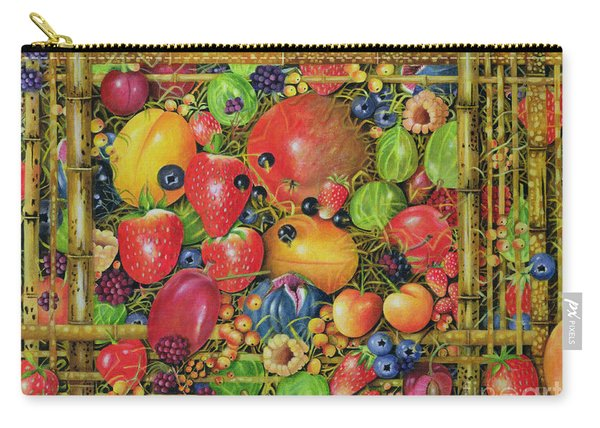 Fruit In Bamboo Box Carry-all Pouch