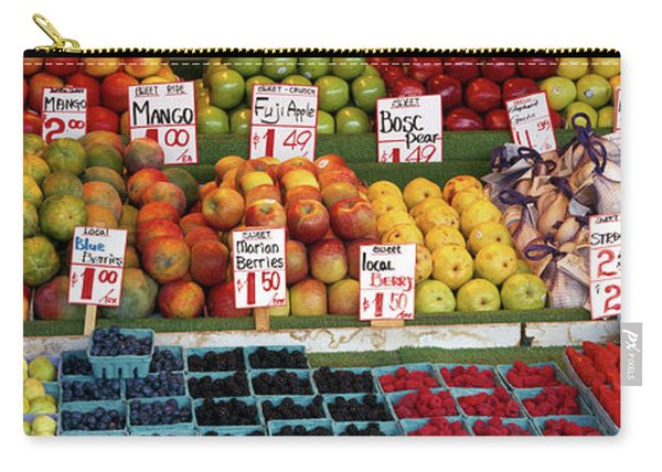 Fruits At A Market Stall, Pike Place Carry-all Pouch