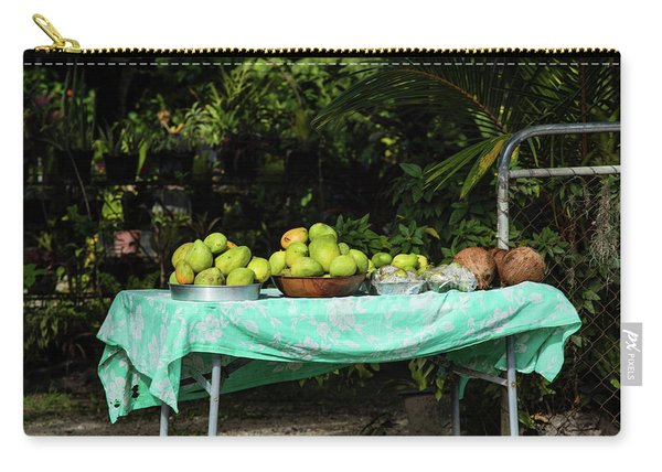 Fruits On A Table In Lawn, Bora Bora Carry-all Pouch