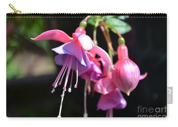 Carry-all Pouch featuring the photograph Fuchsia Flower by Scott Lyons