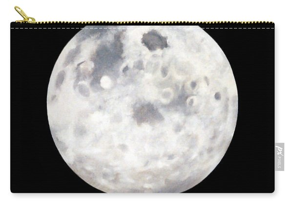 Full Moon In Black Night Carry-all Pouch