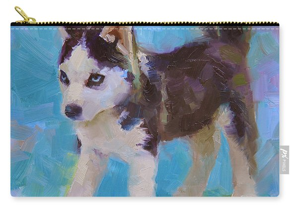 Alaskan Husky Sled Dog Puppy Carry-all Pouch