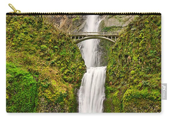 Full View Of Multnomah Falls In The Columbia River Gorge Of Oregon Carry-all Pouch