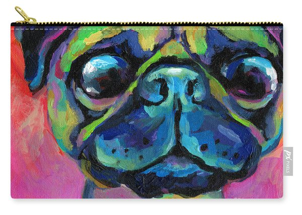 Funny Bug Eyed Pug  Carry-all Pouch