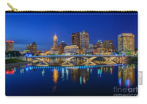 Fx2l530 Columbus Ohio Night Skyline Photo Carry-all Pouch