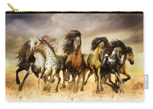 Galloping Horses Full Color Carry-all Pouch