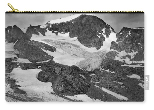 509427-bw-gannett Peak And Gooseneck Glacier, Wind Rivers Carry-all Pouch