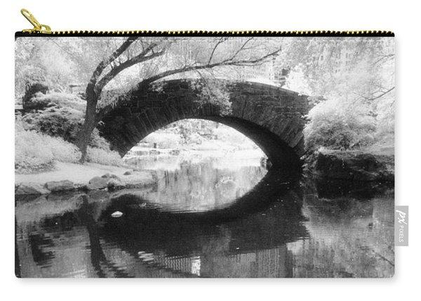 Central Park Photograph - Gapstow Bridge Vertical Carry-all Pouch
