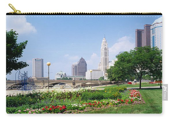 Garden In Front Of Skyscrapers Carry-all Pouch