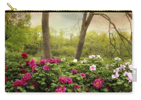 Garden Of Peonies Carry-all Pouch