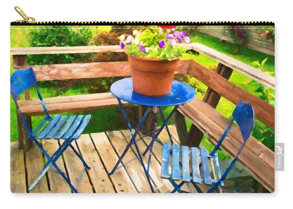Carry-all Pouch featuring the photograph Garden Party by Garvin Hunter