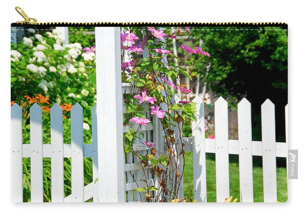 Garden With Picket Fence Carry-all Pouch