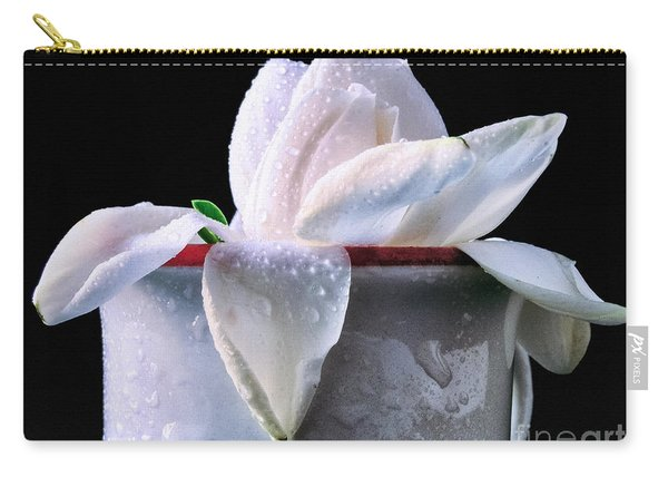 Gardenia In Coffee Cup Carry-all Pouch