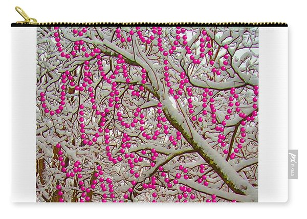 Garlands In The Snow Carry-all Pouch