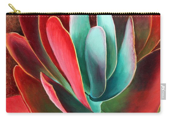 Carry-all Pouch featuring the painting Garnet Jewel by Sandi Whetzel